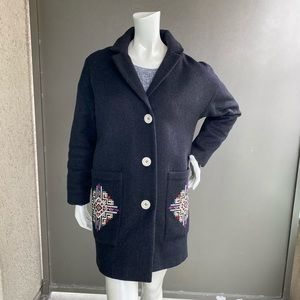 Embroidered coat size S/M